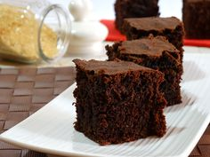dark chocolate cake with brown sugar and whole wheat flour. Sweets Recipes, Just Desserts, Cake Recipes, Dark Chocolate Cakes, Chocolate Desserts, Cupcakes, Cake Cookies, Food Cakes, Healthy Cake