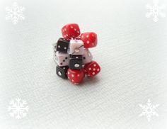 Red, Black And White Dice Cocktail Ring - £5.00 (free shipping) - Creative Connections #craftfest