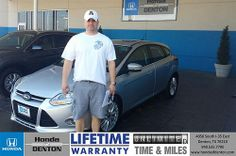 Thank you to Jacob Freestone on your new 2012 #Ford #Focus from Richard Magnotti and everyone at Honda of Denton!