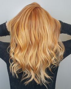 Copper and blonde hair