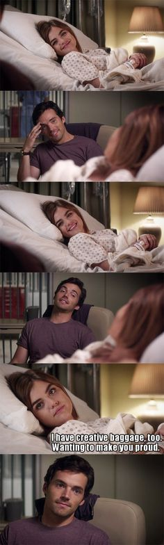 Ezra always there for Aria even when they aren't together