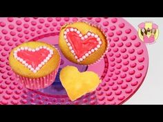 PEARL HEART CUPCAKES - Love hearts - Cupcake decorating tutorial by Charli