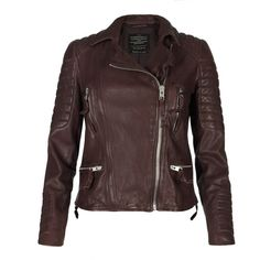 Celebrities who wear, use, or own AllSaints Oxblood Leather Biker Jacket. Also discover the movies, TV shows, and events associated with AllSaints Oxblood Leather Biker Jacket. Best Leather Jackets, Top Mode, Cardigan, Oxblood, Motorcycle Jacket, Biker Jackets, Moto Jacket, Outerwear Jackets, Jackets For Women