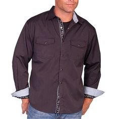 Scully Men's Signature Series Striped Long Sleeve Shirt