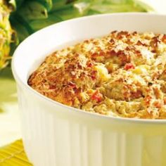Pineapple & Ham Bread Pudding Souffle. Breakfast, Lunch or Dinner this Bread Pudding hybrid with Whole Wheat but without heavy cream or butter is my a crown pleaser.