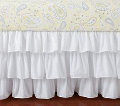 Love the ruffles! Emerson Crib Skirt, Paisley