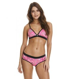Bikinitop pink 317M-192T Dolphin Kick Bikini Top - juicy raspberry