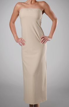 Farr West Full Length Strapless Slip 38 Inch- good for those sheer-ish light colored maxi dresses!