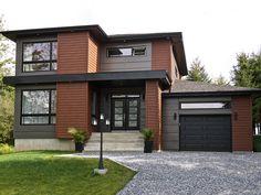 new gray vinyl house siding for a modern style house - Bing images House Siding, House Paint Exterior, Facade House, Exterior House Colors, Modern Exterior House Designs, Modern House Design, Exterior Design, Steel Siding, Cedar Siding