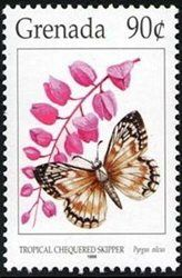 Stamp: Tropical Checkered Skipper (Pyrgus oilcus) (Grenada) (Butterflies) Mi:GD 3312