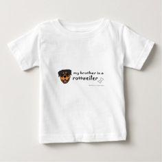 rottweiler baby T-Shirt - shower gifts diy customize creative