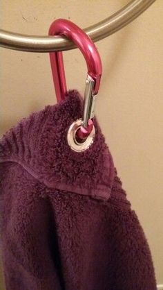 Anchored bath towel holder -