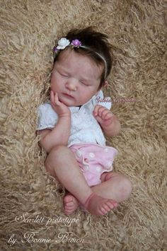 Reborn Scarlett Kit From Bonnie Brown Real Looking Baby Dolls, Real Life Baby Dolls, Silicone Reborn Babies, Silicone Baby Dolls, Newborn Baby Dolls, Reborn Baby Girl, Reborn Doll Kits, Realistic Baby Dolls, Lifelike Dolls