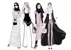 ILLUSTRATION : Girls day out by namirah abdullah