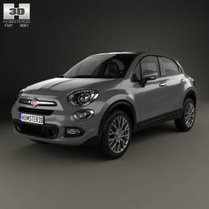 Fiat 500X 2015 3d model from humster3d.com. Price: $75
