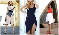 Tips to Make Your Legs Look Longer: Opt for asymmetrical hemlines that create a smooth silhouette.