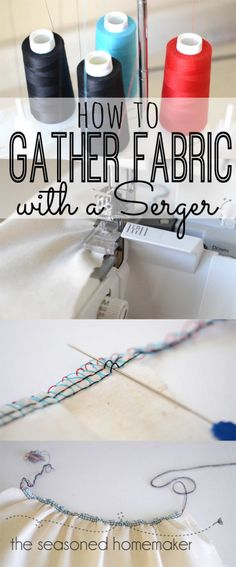 Gather Fabric with a Serger - Sewtorial