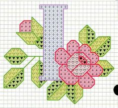 Rose alphabet Y Embroidery Alphabet, Embroidery Art, Cross Stitch Embroidery, Embroidery Patterns, Stitch Patterns, Cross Stitch Letters, Cross Stitch Charts, Cross Stitch Designs, Plastic Canvas Letters