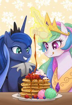 MLP: Pancake Day - Luna And Celestia
