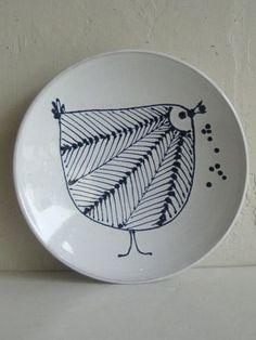 Hallstatt Vtg Mid Century Modern Art Pottery Bird Dish Plaque Eames Wiinblad Era | eBay Clay Birds, Ceramic Birds, Ceramic Plates, Ceramic Art, Mid Century Modern Art, Mid Century Art, Ink In Water, Sgraffito, Modern Ceramics