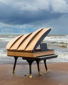Piano Art, Piano Music, Baby Grand Pianos, Bauhaus Design, The Sonic, Making Waves, Pulsar, Sound Waves, Danish Design
