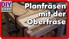 Planfräsen mit der Oberfräse Bosch, Tool Box, Planer, Videos, Tools, Decor, Wood Workshop, Wood Working, First Aid