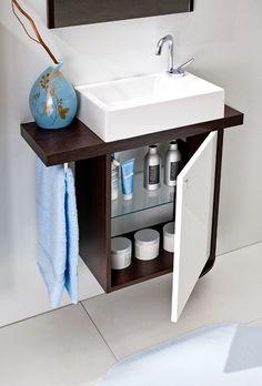 Compact bathroom Wall hung Vanity Basin Unit