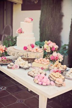 Elegant Garden Glam Wedding Wedding Cake Table Ideas Wedding