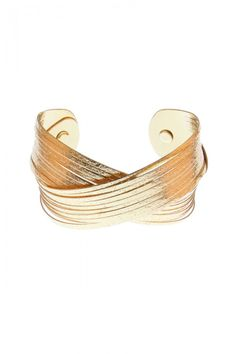 Bandage Golden Curve Fashion Cuff for Women