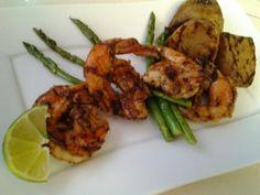 Grilled tequila lime shrimp