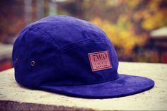 The Worlds Original Face TWO Face London2nd Edition 5 panel cap hatPurple Haze Suede, Black Leather Strapbacksupreme quality only perfect condition