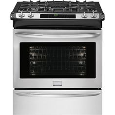 frigidaire 46 cu ft slidein dual fuel convection range stainless steel