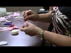 Mulher.com 24/09/2014 - Faixas para Bebe com Pérolas por Regiane Tartari - Parte 2 - YouTube
