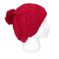 Cable knit Beret with Pom by Elie Hats