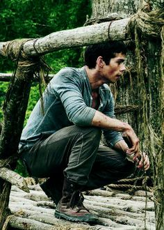 Dylan O'Brien in 'The Maze Runner'.