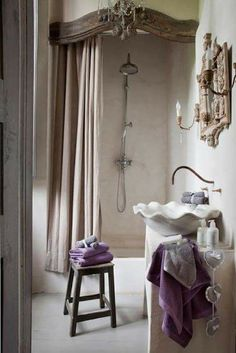 Home Interior Living Room .Home Interior Living Room Country Style Bathrooms, French Country Bedrooms, Chic Bathrooms, French Country Style, French Country Decorating, Cheap Office Decor, Cheap Home Decor, Decoration Design, Bathroom Interior
