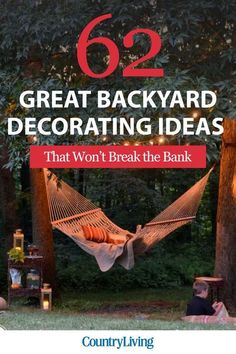 62 Great backyard ideas that won't break the bank. Easy backyard ideas, coming right up!