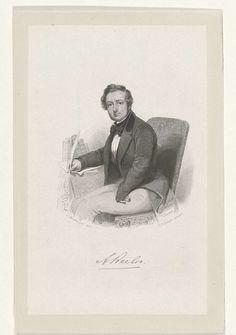 Portret van Adrianus Beelo, Johannes Philippus Lange, 1820 - 1849