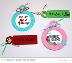 Gift Tag Greetings, Tag Builder Blueprints 4 Die-namics - Amy Rysavy  #mftstamps
