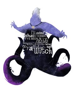 First of my request for 3 more villain posters. #Ursula #Sea #Witch #Disney #Villain #Little #Mermaid #Etsy