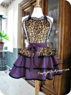 ☀ ☀ PIN it ☀ to ☀ WIN it ☀ ☀https://www.facebook.com/TrophyWifeAprons - Sexy apron - Leopard and purple Hot Fancy Sexy $79 - Retro Hostess Apron - This hostess apron is Vintage inspired - Will custom made an apron for you. Sizes from T2 to adult 4XL. HUGE selection to choose from. ☀ ☀ PIN it to WIN it ☀ ☀ CLICK HERE for details==> https://www.facebook.com/TrophyWifeAprons