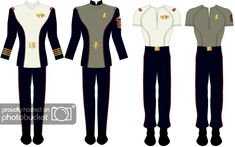 Click this image to show the full-size version. Warrant Officer, Star Wars, Starship Enterprise, The Final Frontier, Star Trek Ships, Red Shirt, Manga, Anime Outfits, New Life