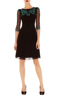 Karen Millen Floral embroidery dress - so lovely but too short ... and the lace is more green than turquoise.  Pity.