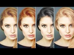 How to Change Hair Color in Photoshop - YouTube