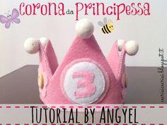 Tutorial di Cucito Creativo - Corona di Compleanno per Riciclare Scarti di Feltro {guest post by Angela di Angyelmade}