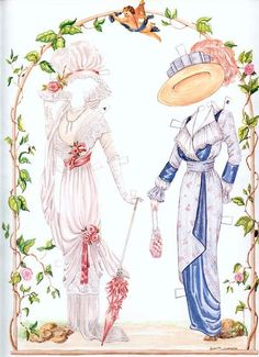 Sisters - Fashions of the Early 1900s* The International Paper Doll Society by Arielle Gabriel for all paper doll and paper toy lovers. Mattel, DIsney, Betsy McCall, etc. Join me at ArtrA, #QuanYin5 Linked In QuanYin5 YouTube QuanYin5