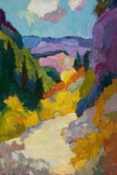 "Larisa Aukon at Mirada Fine Art, 'High Country,' Original Oil on Linen, 36"" x 24"""