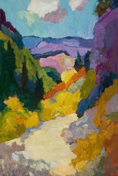 "Larisa Aukon at Mirada Fine Art, 'High Country,' Original Oil on Linen, 36"" x 24"""