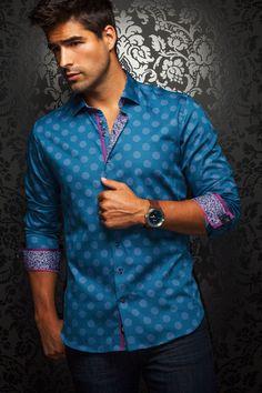 Au Noir Shirt - Moreno Blue