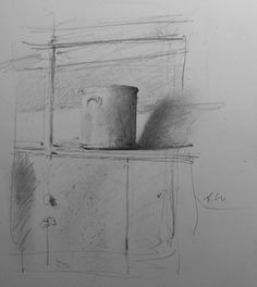 Pencil study for 'The Pantry'- Andrew Wyeth